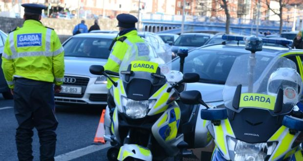 garda check point for drink driving offences